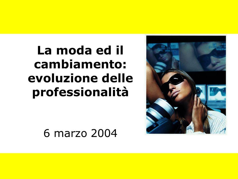La moda ed il cambiamento: evoluzione delle professionalità 6 marzo 2004