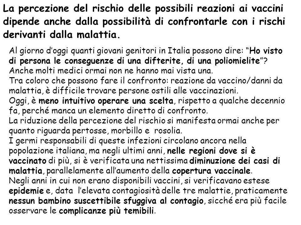 """Al giorno d'oggi quanti giovani genitori in Italia possono dire: """"Ho visto di persona le conseguenze di una difterite, di una poliomielite""""? Anche mol"""