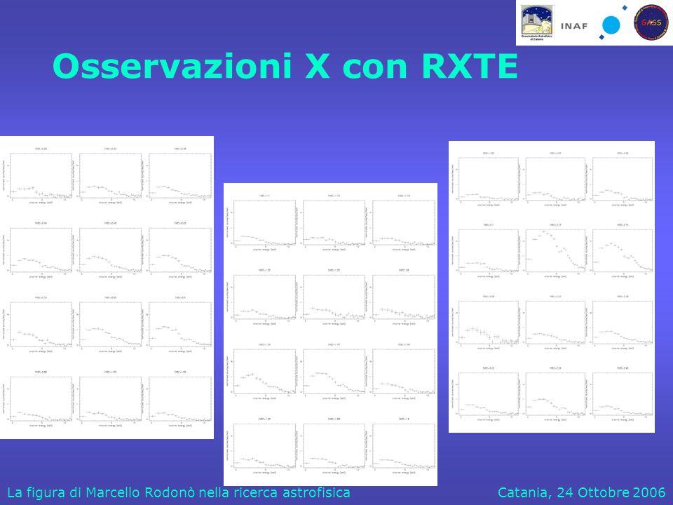 Catania, 24 Ottobre 2006La figura di Marcello Rodonò nella ricerca astrofisica Osservazioni X con RXTE