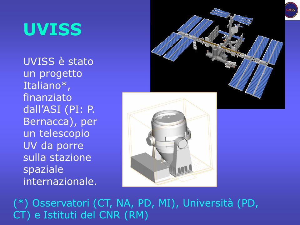 UVISS UVISS è stato un progetto Italiano*, finanziato dall'ASI (PI: P.