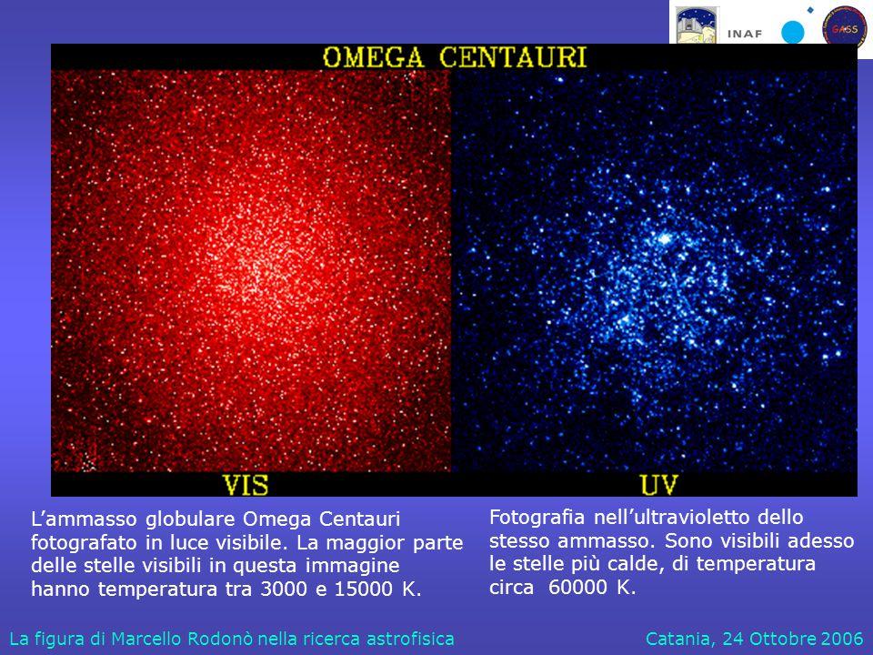 Catania, 24 Ottobre 2006La figura di Marcello Rodonò nella ricerca astrofisica Il Sole visibile e il Sole UV Visibile Ultravioletto