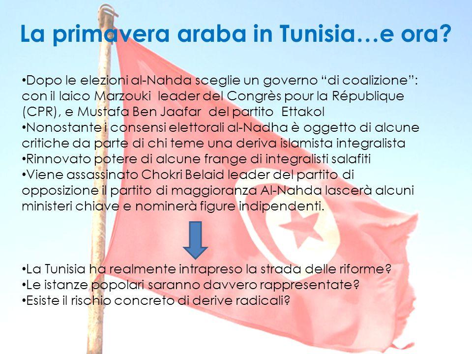 """Dopo le elezioni al-Nahda sceglie un governo """"di coalizione"""": con il laico Marzouki leader del Congrès pour la République (CPR), e Mustafa Ben Jaafar"""