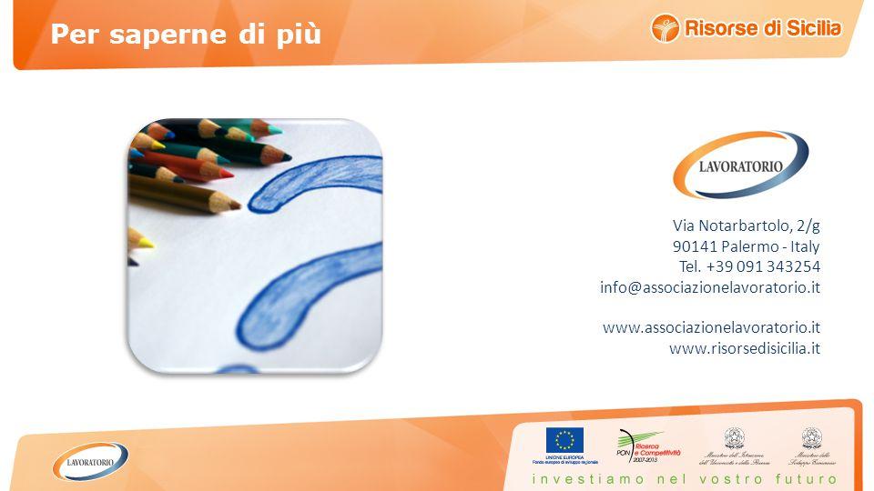 Via Notarbartolo, 2/g 90141 Palermo - Italy Tel.