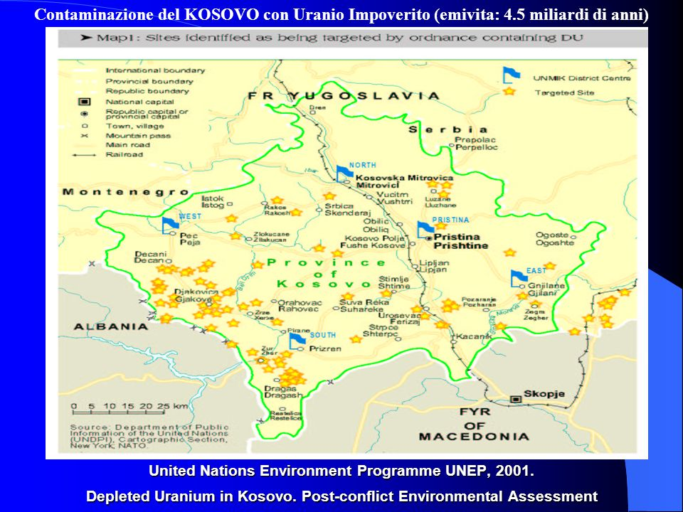 United Nations Environment Programme UNEP, 2001. Depleted Uranium in Kosovo.