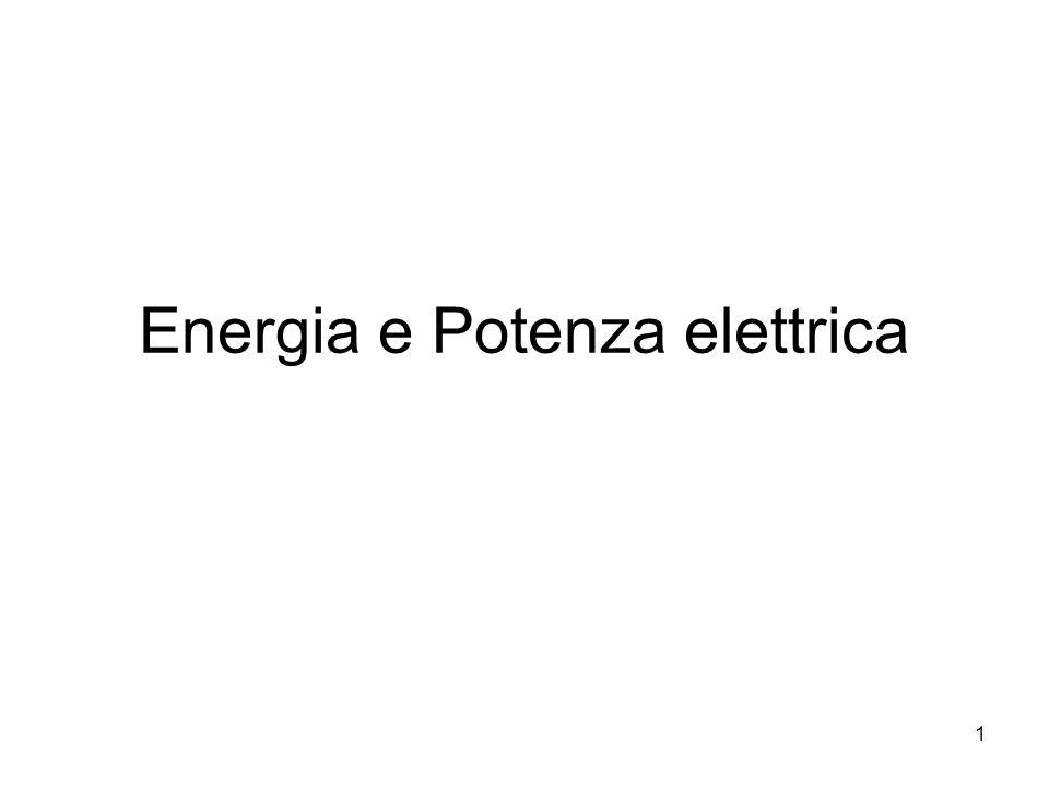 1 Energia e Potenza elettrica