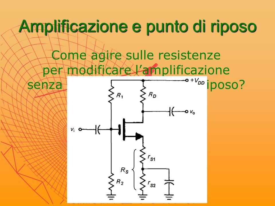 Amplificatore a drain comune Vo Vo = Vi Vi - V GS source follower v gs = v i – R S ∙(g m v gs )  v i = (1 + g m R S ) v gs v o = g m v gs R S 1 R i = R 1 //R 2