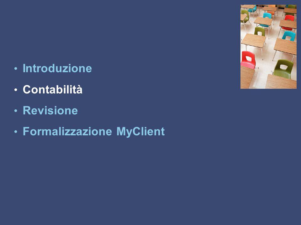 Introduzione Contabilità Revisione Formalizzazione MyClient