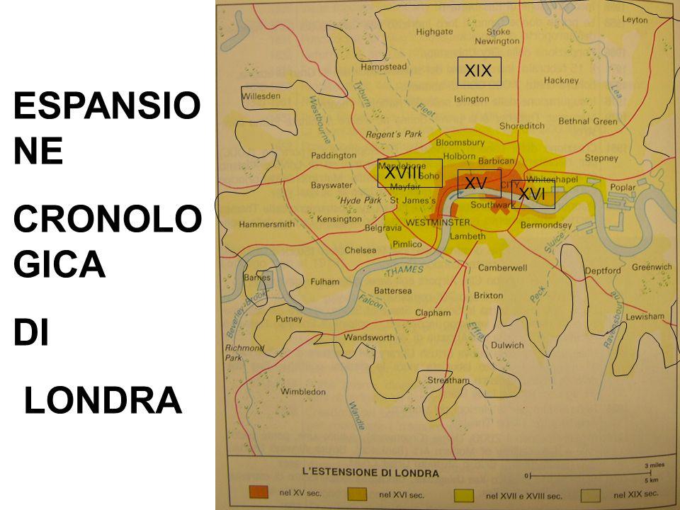 ESPANSIO NE CRONOLO GICA DI LONDRA XV XVIII XVI XIX