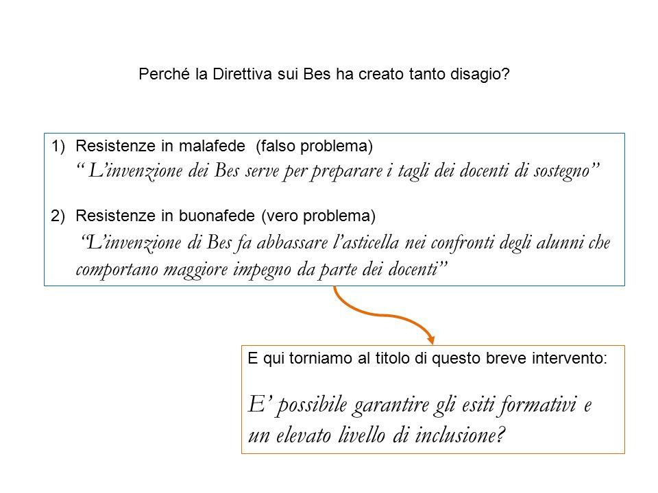 """Perché la Direttiva sui Bes ha creato tanto disagio? 1)Resistenze in malafede (falso problema) """" L'invenzione dei Bes serve per preparare i tagli dei"""