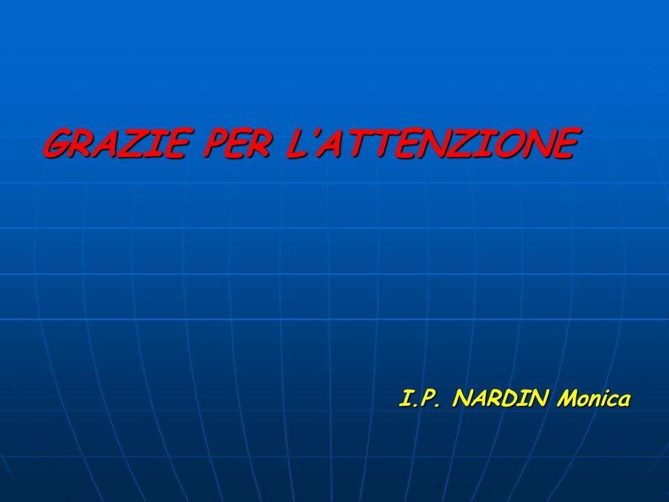 GRAZIE PER L'ATTENZIONE I.P. NARDIN Monica