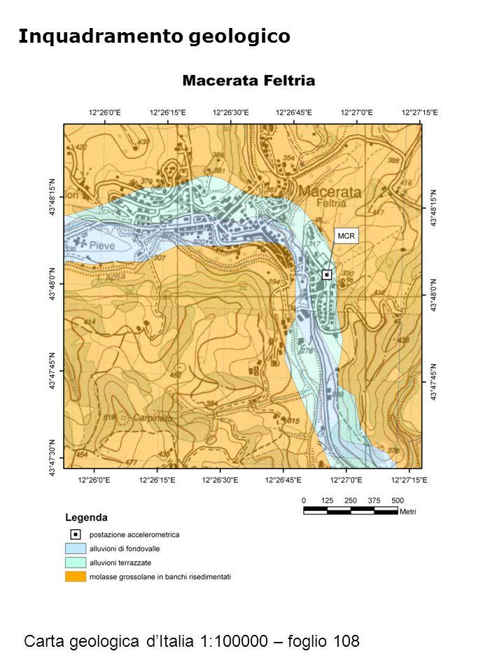 Inquadramento geologico Carta geologica d'Italia 1:100000 – foglio 108