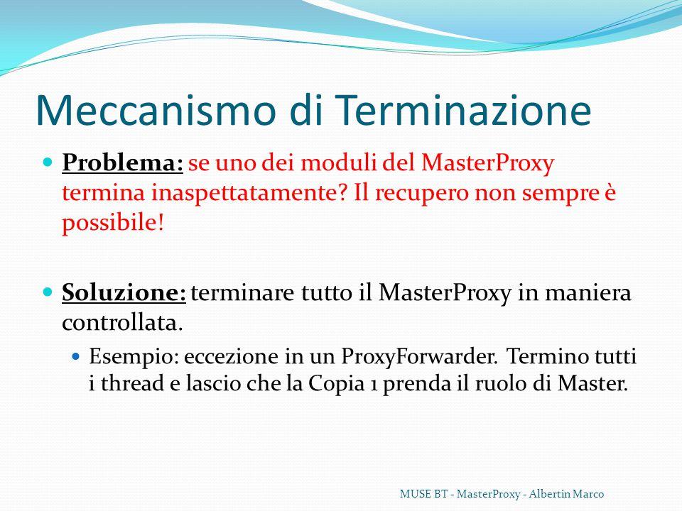 Meccanismo di Terminazione Problema: se uno dei moduli del MasterProxy termina inaspettatamente.