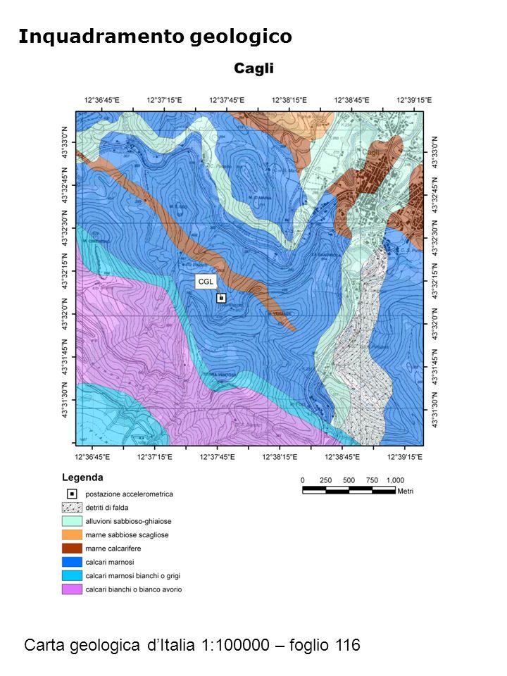 Inquadramento geologico Carta geologica d'Italia 1:100000 – foglio 116