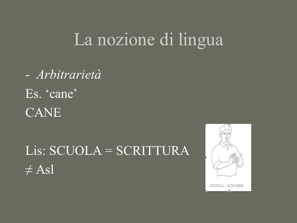La nozione di lingua -Iconicità Lingue vocali: parole onomatopeiche Ma… it.