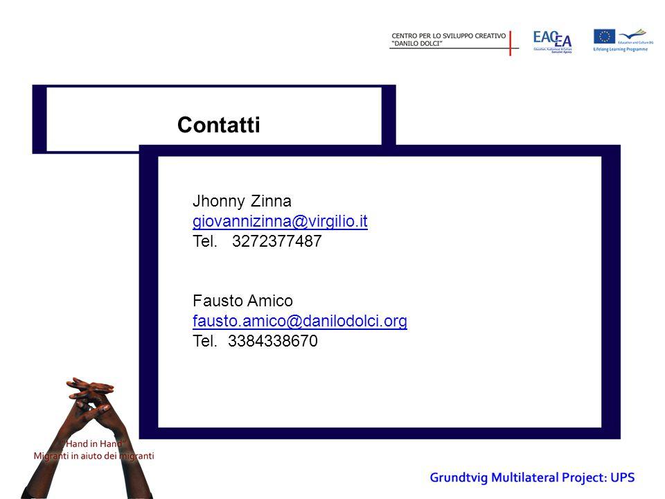 Contatti Jhonny Zinna giovannizinna@virgilio.it Tel.