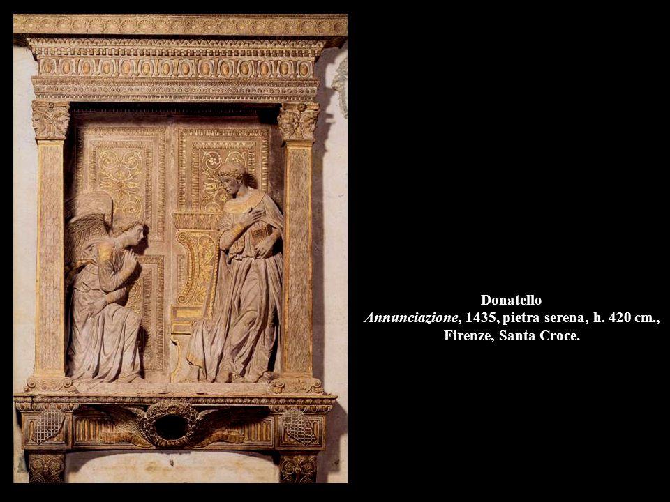 Donatello Annunciazione (part.), 1435, pietra serena, Firenze, Santa Croce.