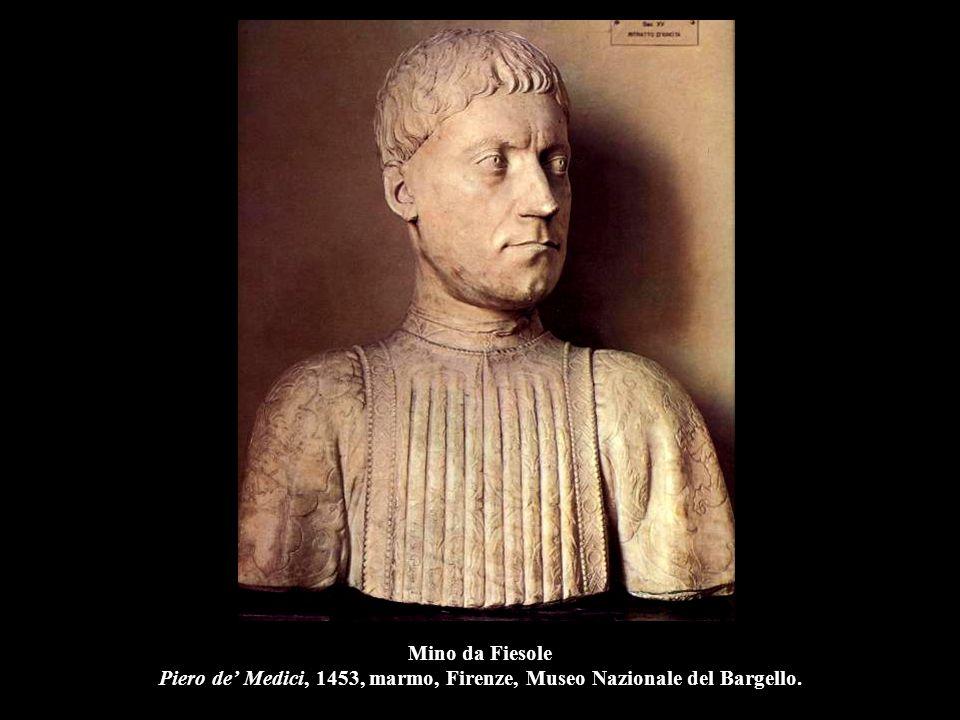 Mino da Fiesole Niccolò Strozzi, 1454, marmo, Berlino, Kaiser Friedrich Museum.