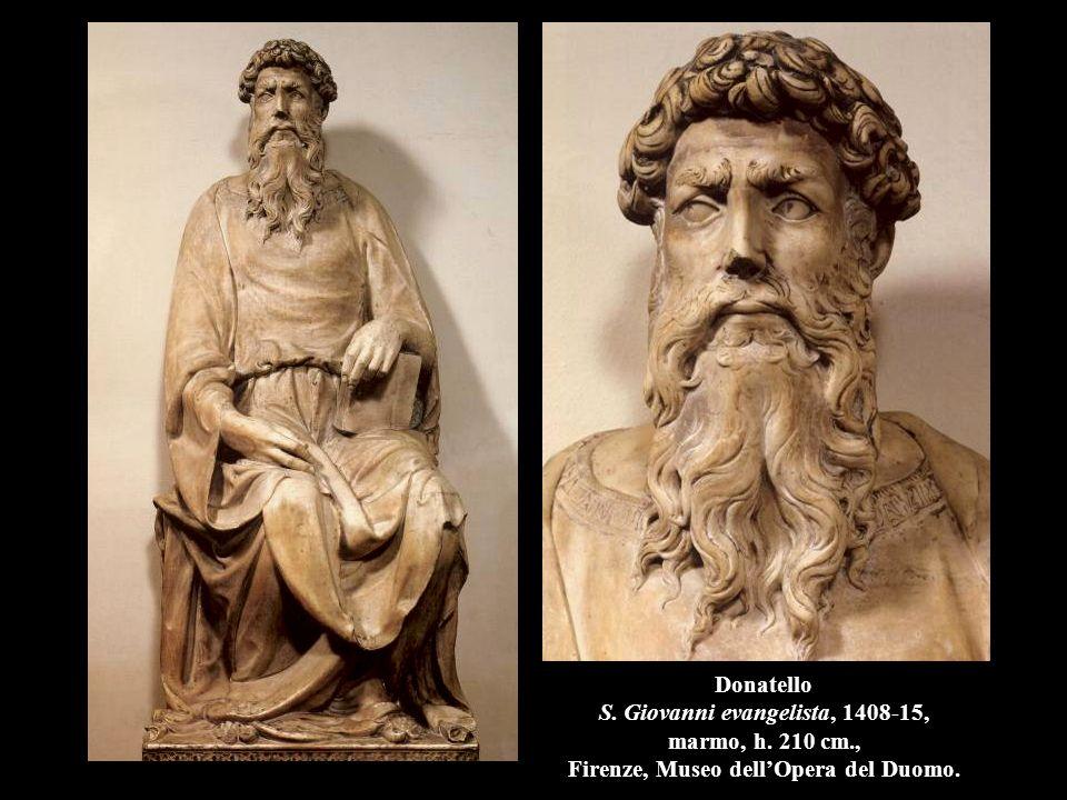 Donatello San Giorgio, 1416-17, marmo, h. 210 cm., Firenze, Museo Nazionale del Bargello.