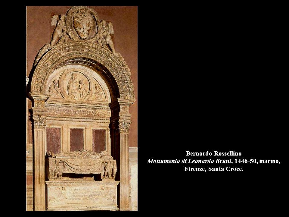 Desiderio da Settignano Monumento a Carlo Marsuppini, 1455-58, marmo, Firenze, Santa Croce.
