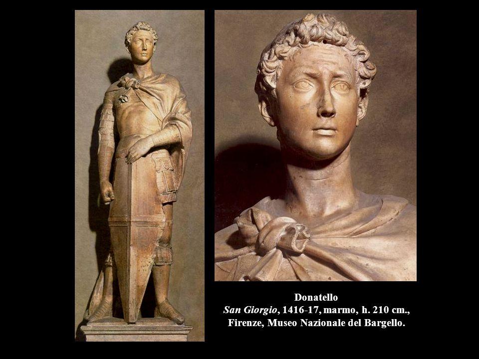 Donatello Profeta Abacuc, 1423-25, marmo, h. 210 cm., Firenze, Museo dell'Opera del Duomo.