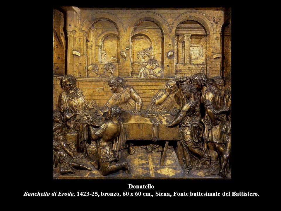 Donatello David, 1435-40, bronzo, h. 158 cm., Firenze, Museo Nazionale del Bargello.