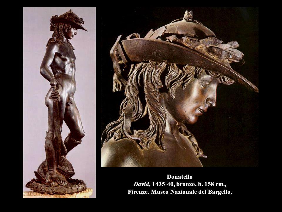 Donatello Annunciazione, 1435, pietra serena, h. 420 cm., Firenze, Santa Croce.
