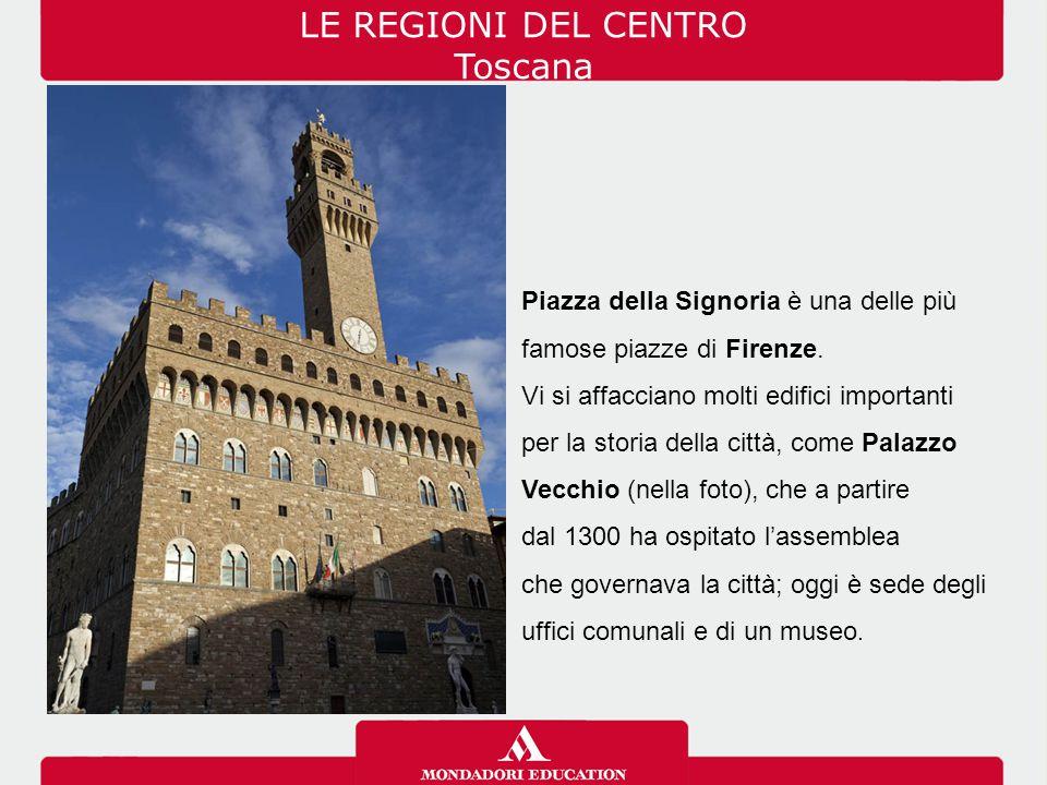 Piazza della Signoria è una delle più famose piazze di Firenze. Vi si affacciano molti edifici importanti per la storia della città, come Palazzo Vecc