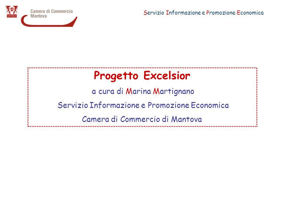 Servizio Informazione e Promozione Economica Progetto Excelsior a cura di Marina Martignano Servizio Informazione e Promozione Economica Camera di Commercio di Mantova