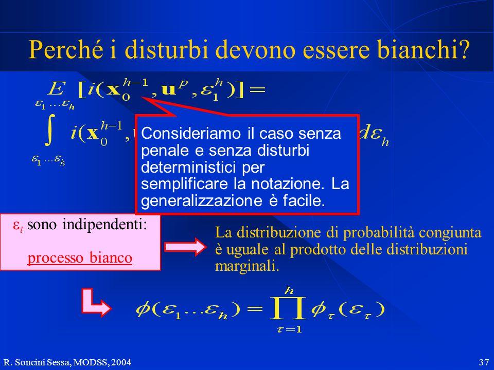 R. Soncini Sessa, MODSS, 2004 37 Perché i disturbi devono essere bianchi.