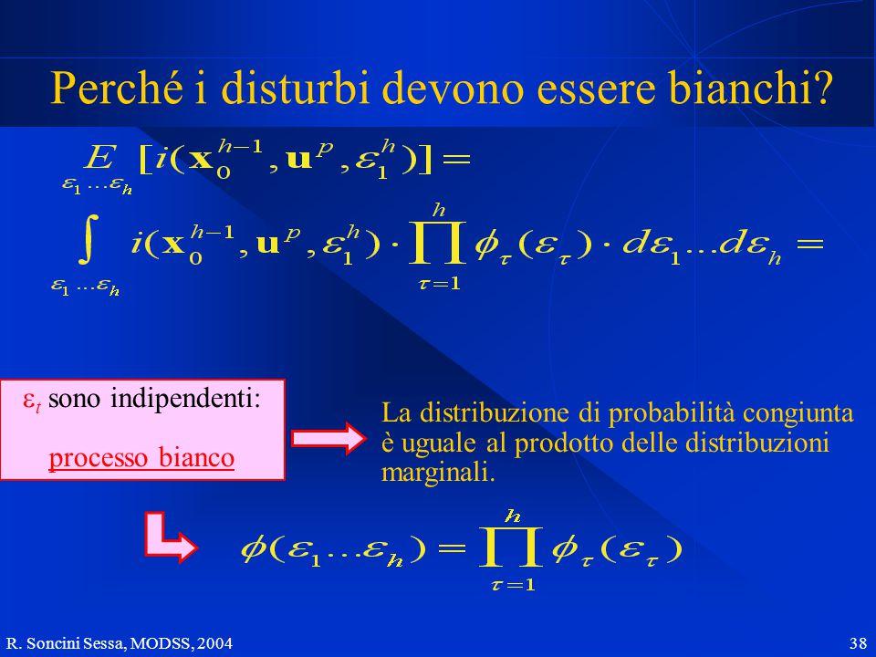R.Soncini Sessa, MODSS, 2004 38 Perché i disturbi devono essere bianchi.