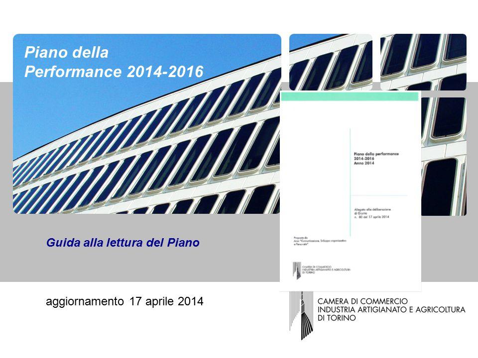 Guida alla lettura del Piano aggiornamento 17 aprile 2014 Piano della Performance 2014-2016