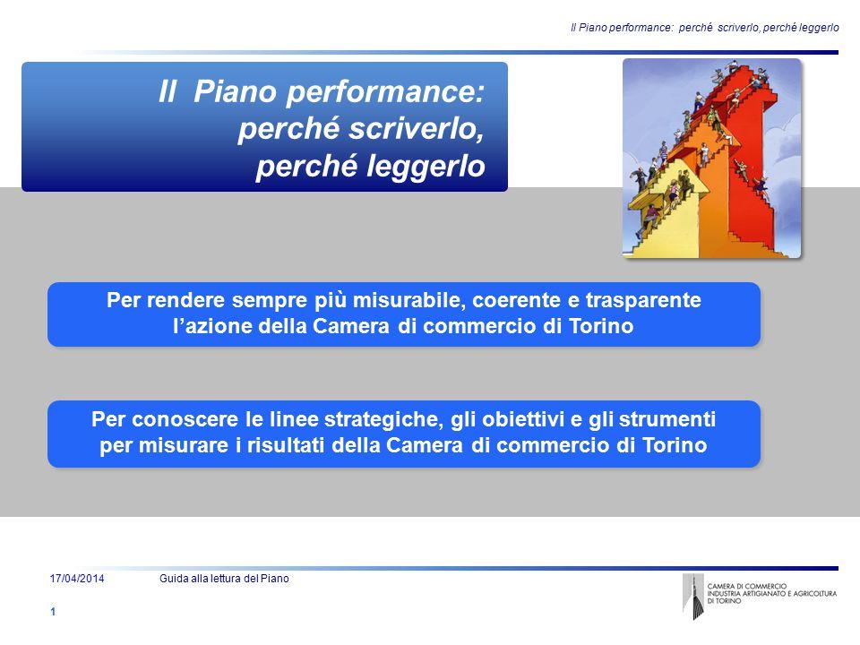 Per rendere sempre più misurabile, coerente e trasparente l'azione della Camera di commercio di Torino Per rendere sempre più misurabile, coerente e t