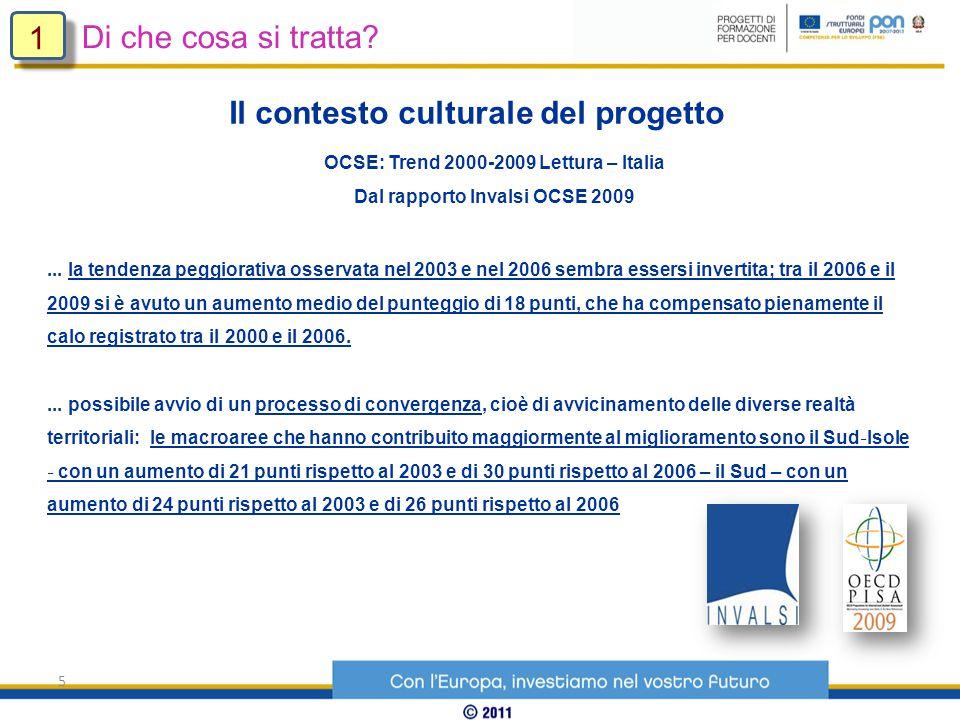 5 OCSE: Trend 2000-2009 Lettura – Italia Dal rapporto Invalsi OCSE 2009...