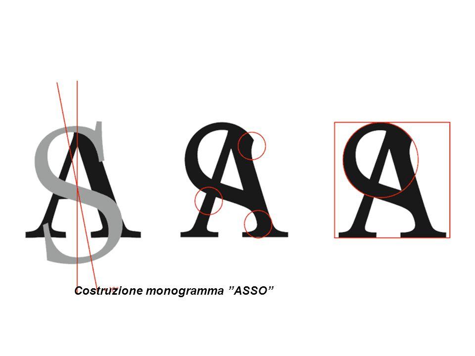 """Costruzione monogramma """"ASSO"""""""