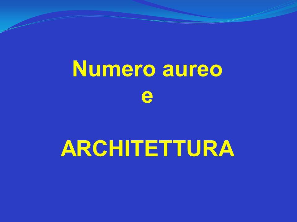 Numero aureo e ARCHITETTURA