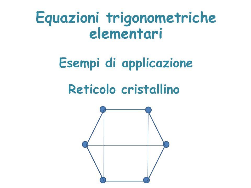 Equazioni trigonometriche elementari Esempi di applicazione Reticolo cristallino