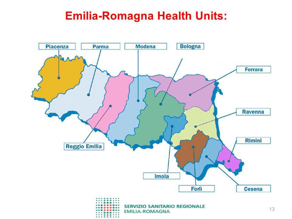 13 Emilia-Romagna Health Units: