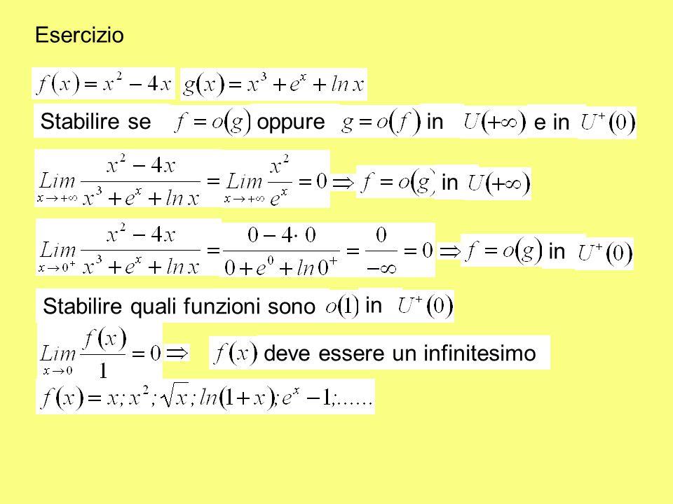 Proprietà dell' o piccolo definita e diversa da 0 in U ( c ) Nota bene: in se: