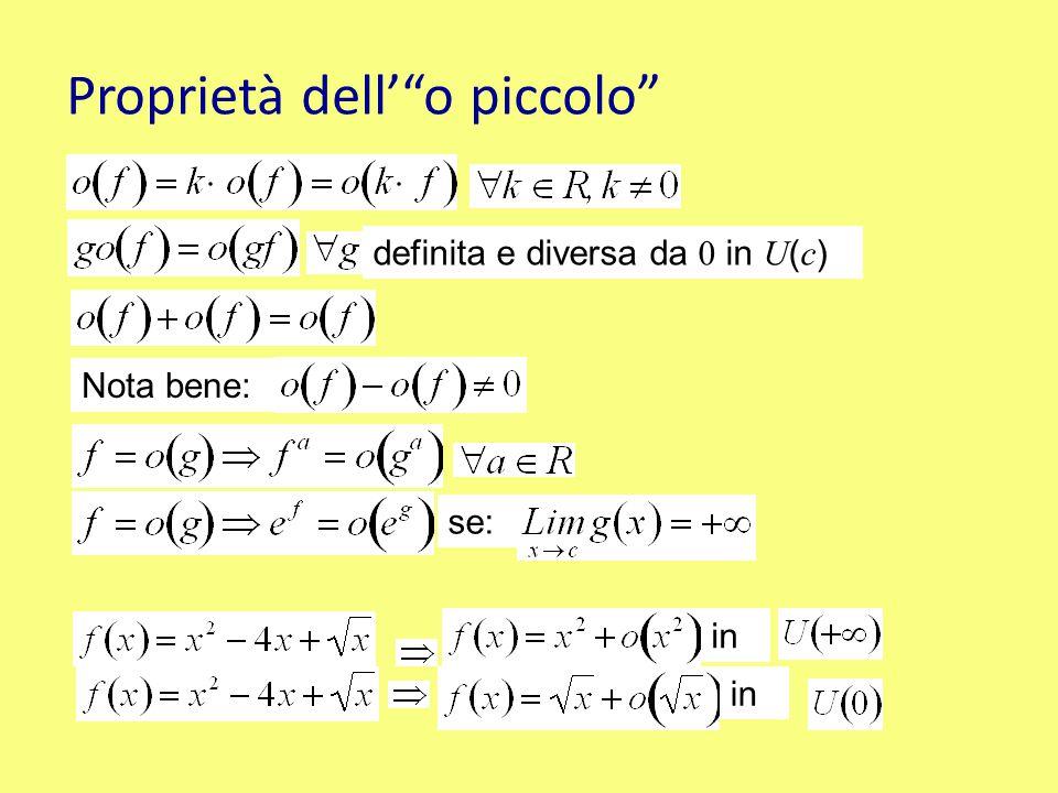 Teorema degli Infiniti e degli infinitesimi Contemporaneamente infiniti o infinitesimi in un intorno di c Se allora