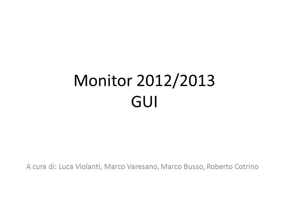 Monitor 2012/2013 GUI A cura di: Luca Violanti, Marco Varesano, Marco Busso, Roberto Cotrino