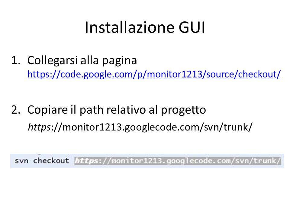 Installazione GUI 3.