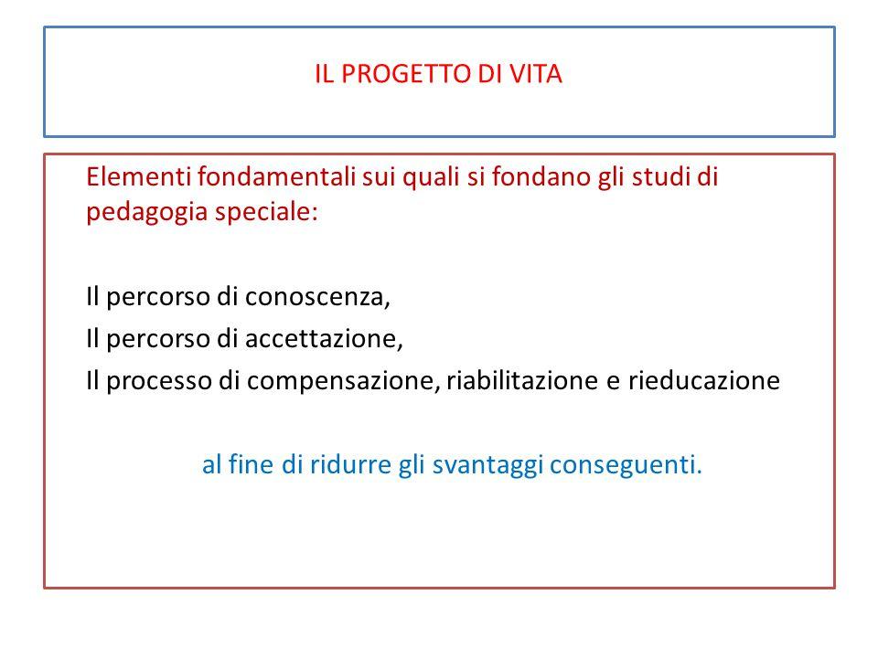 TAVOLA DEI FATTORI DELLA QUALITA' DI VITA DI PERSONE DISABILI (2) Le riserve, tutele e protezioni.