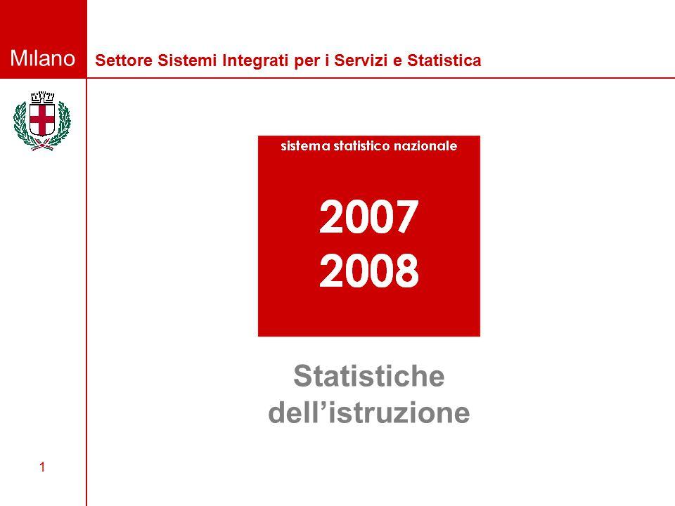Milano 1 Settore Sistemi Integrati per i Servizi e Statistica Statistiche dell'istruzione