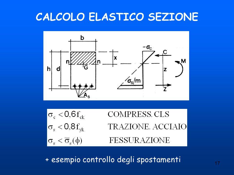 17 CALCOLO ELASTICO SEZIONE + esempio controllo degli spostamenti