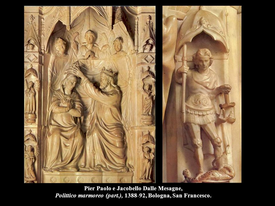 Nanni di Banco Assunzione della Vergine (part.), 1414-21, Firenze, S. Maria del Fiore.