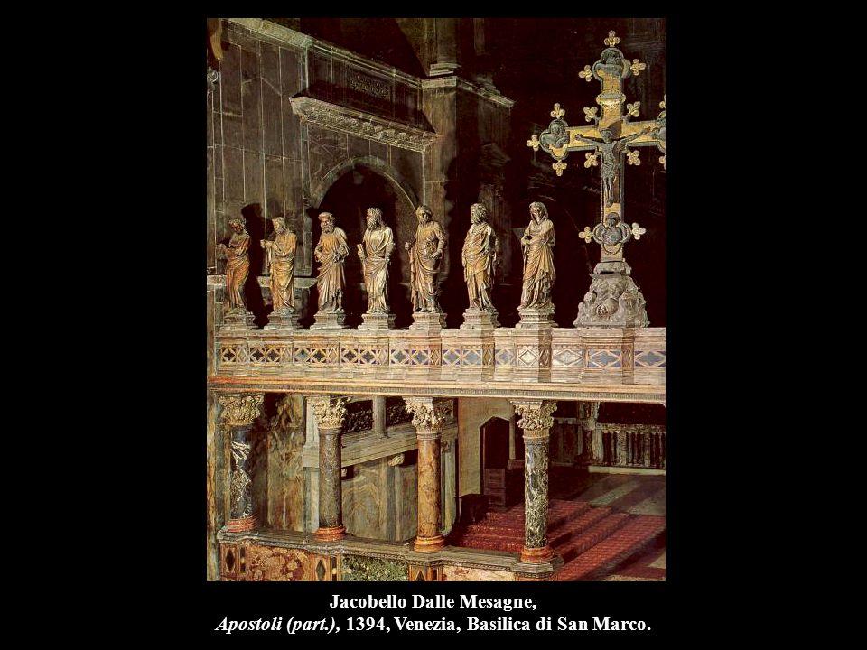 Jacobello Dalle Mesagne, Apostoli e La Vergine (part.), 1394, marmo, Venezia, Basilica di San Marco.