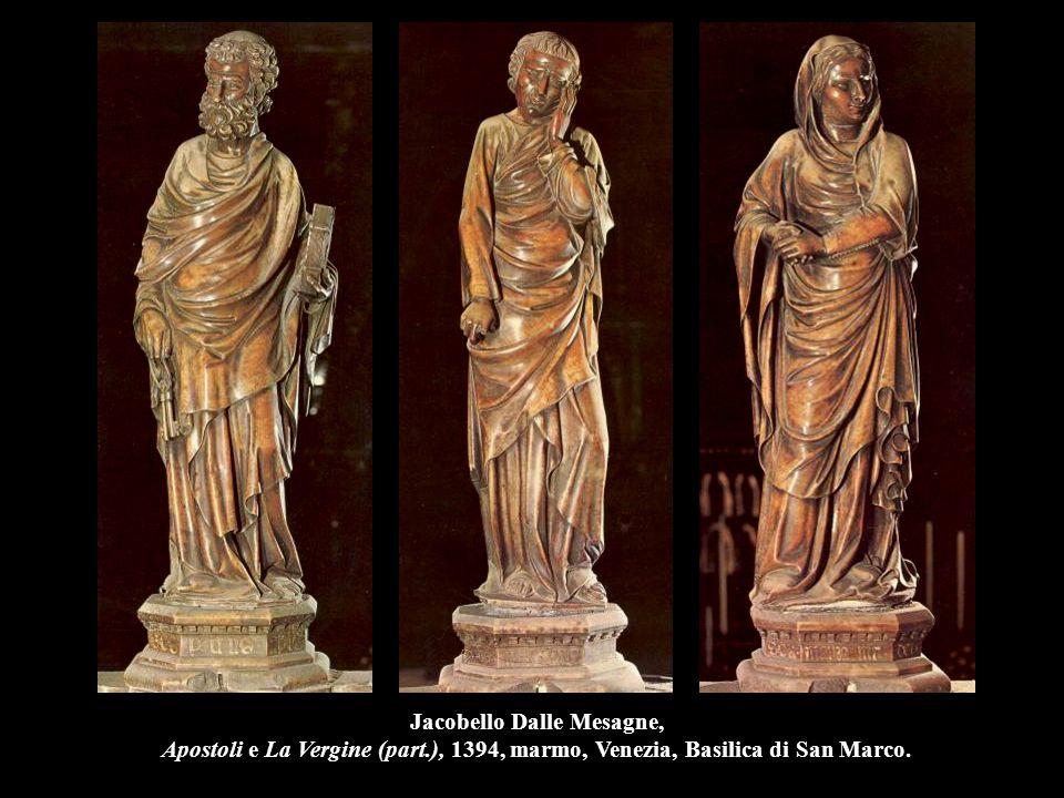 Jacopo della Quercia Rea Silvia e Acca Larentia (Fonte Gaia), 1409-19, marmo, h.