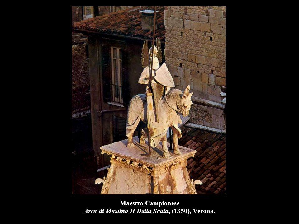 Maestro Campionese Cangrande Della Scala, marmo, Verona, Castelvecchio.