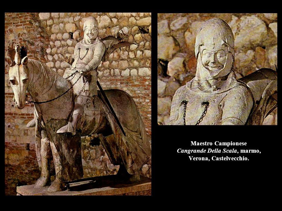 Jacopo della Quercia Annuncio a Zaccaria, 1428, bronzo, 60 x 60 cm., Siena, Pieve di S.