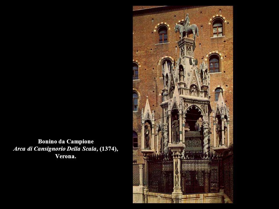 Bonino da Campione Arca di Bernabò Visconti, (1363), Milano, Castello Sforzesco.